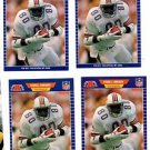 Ferrell Edmunds Trading Card Lot of (4) 1989 Pro Set #214A Dolphins