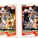 Don Mattingly Trading Card Lot of (2) 1990 Fleer #447 Yankees