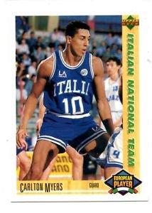 Carlton Myers 1991-92 Upper Deck International Italian #112
