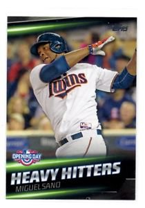 Miguel Sano Heavy HItters Insert 2016 Topps Opening Day #HH5 Twins