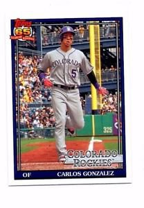 Carlos Gonzalez Trading Card Single 2016 Topps Archives #267 Rockies
