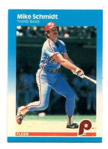 Mike Schmidt Trading Card Single 1987 Fleer #187 Phillies