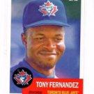 Tony Fernandez Trading Card Single 2016 Topps Archives #16 Blue Jays