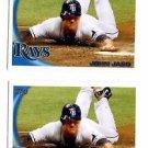 John Jaso Trading Card Lot of (2) 2010 Topps Update Series #US273 Rays