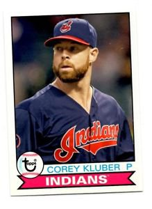 Corery Kluber Trading Card Single 2016 Topps Archives 107 Indians