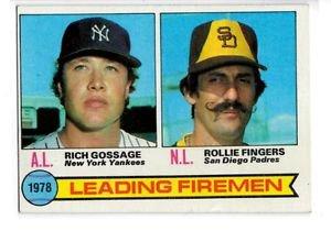 Rollie Fingers Rich Gossage Trading Card 1979 Topps #8 EX+ Firemen