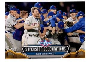 Daniel Murphy Superstar Celebrations Single 2016 Topps Opening Day #SC6 Mets