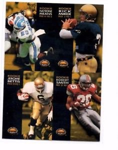 Natrone Means Rick Mirer Jerome Bettis Perspective 1996 Skybox Premium #231
