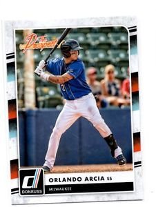 Orlando Arcia The Rookies Trading Card Single 2016 Donruss #TP7 Brewers