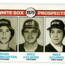 Ross Baumgarten Mike Colvern MIke Squires RC 1979 Topps #704 White Sox