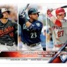 Mike Trout Chris Davis Nelson Cruz Trading Card 2016 Topps #26 LL