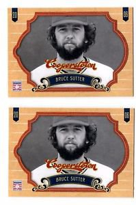 Bruce Sutter Trading Card Lot of (2) 2012 Panini Cooperstown #54 Cardinals
