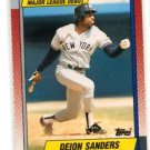 Deion Sanders RC Trading Card SIngle 1990 Topps #108 Yankees