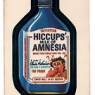 Hiccups Milk of Amnesia Trading Card 1980 Topps Wacky Packages 194/198