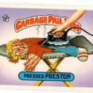 Pressed Preston Sticker 1986 Topps Garbage Pail Kids #219b