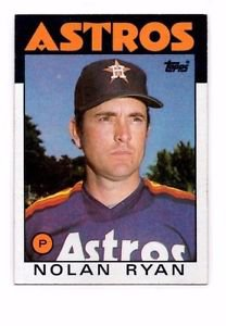 Nolan Ryan Trading Card Single 1986 Topps #100 Astros