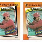 Mike Schmidt Trading Card Lot of (2) 1990 Topps #662 Phillies