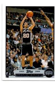 Emanuel Ginobili Trading Card Single 2003-04 Topps #95 Spurs