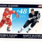 Theoren Fluery Marty McSorley 1991-92 Score Canadian Bilingual #297 SL