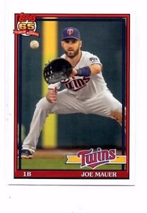 Joe Mauer Trading Card Single 2016 Topps Archives #261 Twins