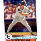 Wade Boggs Trading Card Single 2016 Topps Archives #185 Yankees
