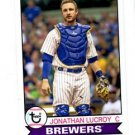 Jonathan Lucroy Trading Card Single 2016 Topps Archives #102 Brewers