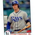 Evan Longoria Trading Card Single 2016 Topps Archives 104 Rays