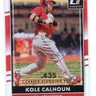 Kole Calhoun Career Stat Line SP  2016 Donruss #77 Angels 110/435