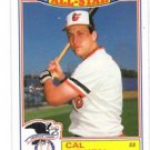 Cal Ripken Jr Trading Card 1986 Topps All Star Commemorative #16 Orioles