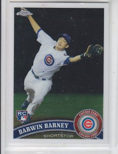 Darwin Barney RC Trading Card Single 2011 Topps Chrome 193 Cubs