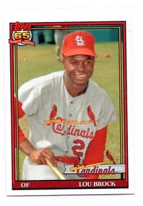 Lou Brock Trading Card 2016 Topps Archives #282 Cardinals