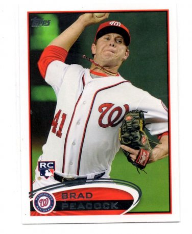 Brad Peacock RC Trading Card Single 2011 Topps #275 Nationals