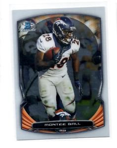 Montee Ball Trading Card SIngle 2014 Bowman Chrome #60 Broncos