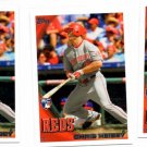 Chris Heisey RC Trading Card Lot of (3) 2010 Topps Update Series #US177 Reds