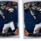Jay Cutler Trading Card Lot of (2) 2014 Bowman Chrome #59 Bears