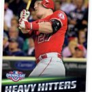 Mike Trout Heavy Hitters Trading Card Single 2016 Topps Opening Day HH10 Angels