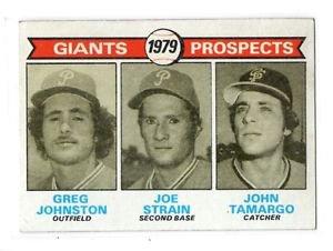 Greg Johnston Joe Strain John Tomargo RC 1979 Topps #726 Giants