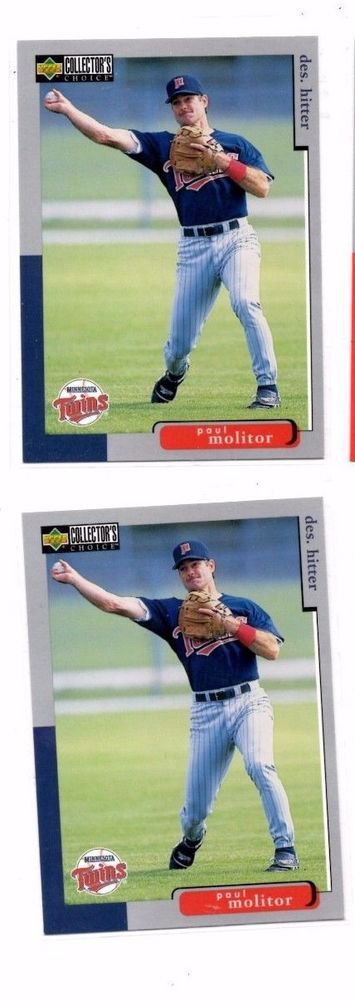 Paul Molitor Trading Card Lot of (2) 1998 Upper Deck Collector's Choice #160