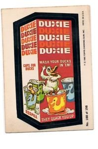 Duxie Trading Card 1980 Topps Wacky Packages 188/198
