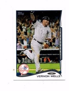 Vernon Wells Trading Card Single 2014 Topps Mini #222 Yankees