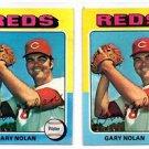 Gary Nolan Trading Card Lot of (2) 1975 Topps #562 Reds EX+