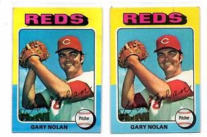 Gary Nolan Trading Card Lot of (2) 1975 Topps #562 Reds EX+