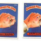 Ugly Hands Jan Hand Sticker Lot 1986 Topps Garbage Pail Kids 235a 235b EX+