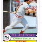 Johnny Bench Trading Card Single 1979 Topps #200 Reds NM