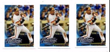 Yorvit Torrealba Trading Card Lot of (3) 2010 Topps Update Series #US217 Padres