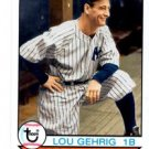 Lou Gehrig Trading Card 2016 Topps Archives #190 Yankees