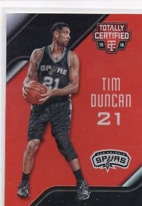 Tim Duncan Red Trading Card Single 2015-16 Panini Totally Certified #127 104/149