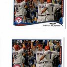 David Murphy Trading Card Lot (2) 2014 Topps Mini Online Exclusives #39 Rangers