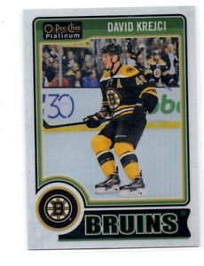 David Krejci White Ice Parallel SP 2014-15 UD OPC Platinum #147 Bruins 026/199