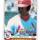 Lou Brock Trading Card 1979 Topps #665 Cardinals NMMT